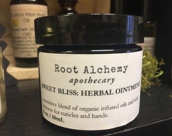 Sweet Bliss Herbal Body Butter: A super sweet herbal infused vanilla butter for cuticles and dry skin by Root Alchemy