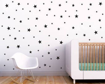 Stars Wall Decals Set / Nursery Wall Decal. Star Wall Decal. Star Wall Stickers. Wall Vinyl Sticker Nursery. Baby Room Decor Art F10