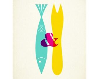 Fish & Chips - 40 x 50cm giclee print