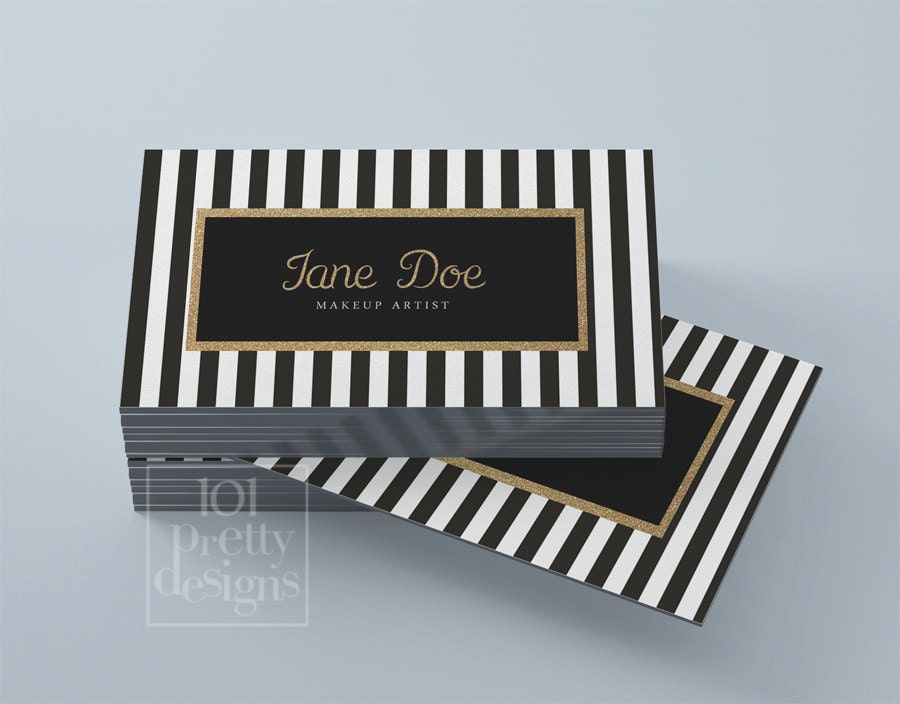 Business card template black white images card design and card gold glitter business card template stripped printable zoom reheart images flashek Images