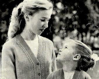 STUDLEY 135 Vintage Children's Knitting Pattern Instant Download