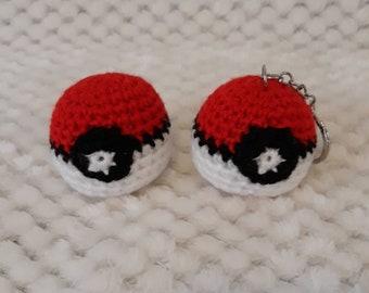 Pokeball Keychain Amigurumi Crochet