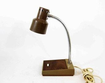 Vintage Gooseneck Desk Lamp / Tensor Style Lamp. Circa 1970's.
