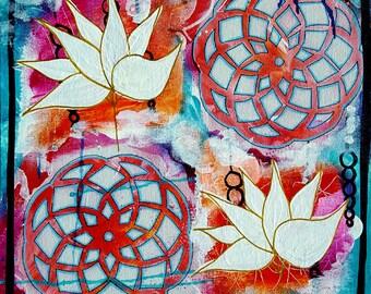 Mandala - Mandala Painting - Mandala Art - Original Fine Art- Healing Mandala, Meditation Mandala, Home Decor, Wall Art, Mixed Media Mandala