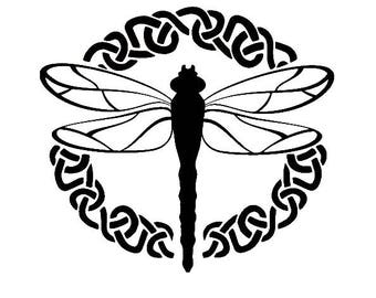 Outlander Dragonfly Vinyl Decal Sticker