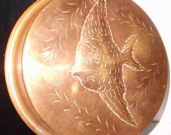 Vintage French Vintage Copper Fish Mould Fish Pan