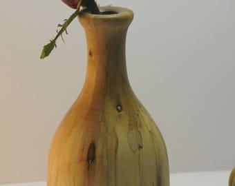 bud vase, turned wooden bud vase,hand turned bud vase, weed pot, hand turned weed pot