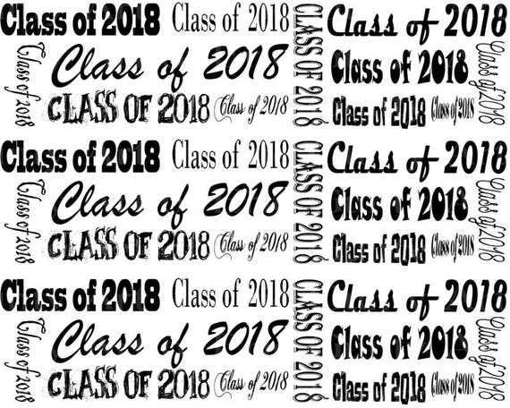 Class of 2018 Graduation - Designer Strips - Edible Cake Side Toppers- Decorate The Sides of Your Cake! - D22814