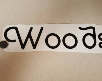 1 vinyl word, up to 3 in x 12 in length, decorate your own project