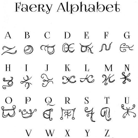 Faery Alphabet scrapbook journal alphabets secret code