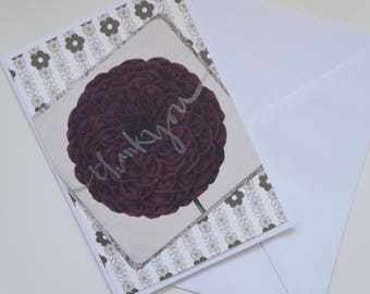 Simple Floral Thank You, A6 Card