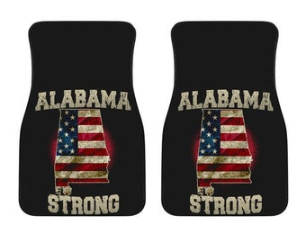 Alabama/Strong/American Flag/Car/Truck/SUV/Auto/RV/Floors Mats/Gifts/State Flag/Art/Home