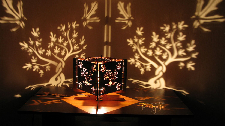 Decorative lasercut wood fig tree shadow lamp handmade zoom audiocablefo