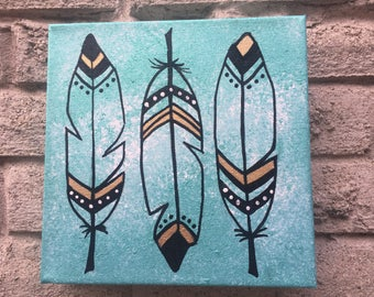 Three Feathers Painting