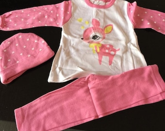 set pajamas 2pièces (without) 6month cotton so light with cap NEW