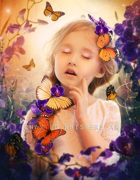 little girl fantasy portrait art print