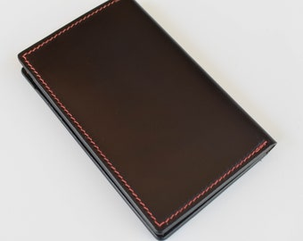 Shell Cordovan Card Wallet / Minimalist Wallet / Card Case / Horween / Color8 / Saddle Stitched
