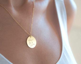 Gemini Constellation Necklace | Gemini Star Sign Necklace | Gemini Necklace | Personalized Gift For Gemini | Gemini Zodiac Necklace