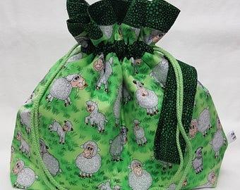 Cute Sheep Medium Project Bag - Knitting - Crochet