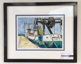 Original watercolor painting~ Warrior, Port of Eureka