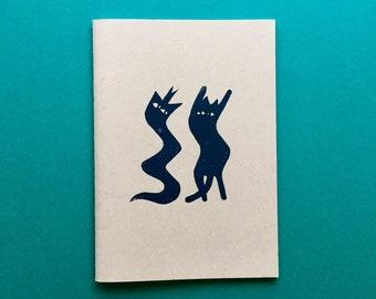 GROOVIN' ,Hand printed notebook