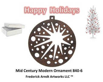840-6 Mid Century Modern Christmas Ornament