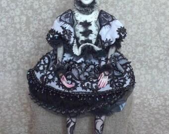 OOAK Аrt doll Boudoir doll Pierrette