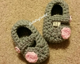 Crochet Mary Jane Booties / Slippers