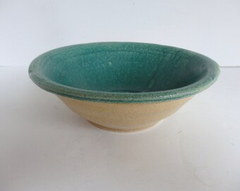 Turquoise Studio Pottery Bowl