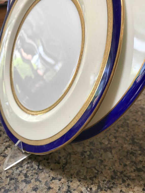 & Tiffany and Co Dinnerware Set 12 Antique Royal Doulton Plates