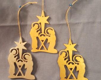 Handmade Nativity Ornaments