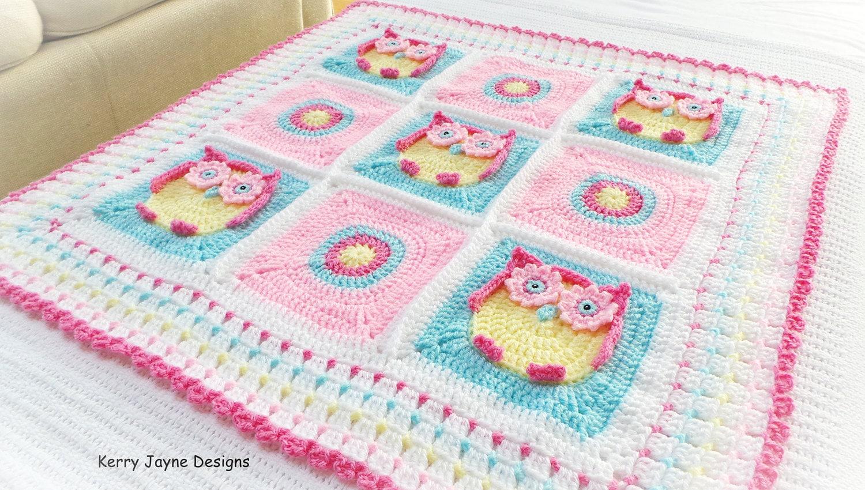 OWL BABY BLANKET Pattern Kerry\'s Owl Blanket Owl
