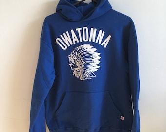 Blue Owatonna Hooded Sweatshirt