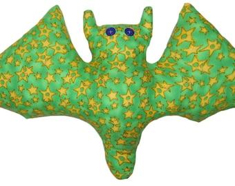 Green Star Power Bat Pillow
