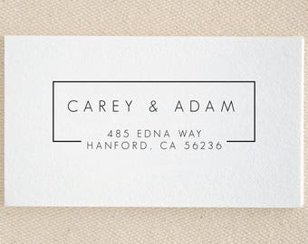 Return Address Stamp Personalized Custom Names Wedding Name Gift Card Handle Mounted Rubber Stamp Pre-inked Stamp Self inking Stamp RE930