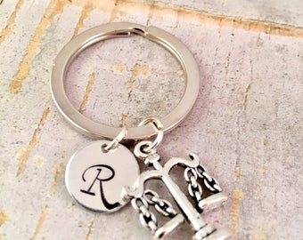 Graduation Gift, Lawyer Keychain, Attorney Keychain, 2017,  Lawyer, Law School Graduation Gift, Lawyer Jewelry, Scales of Justice Keychain