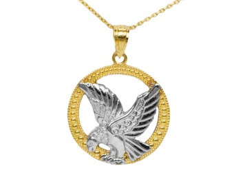 10k Yellow Gold Eagle Pendant