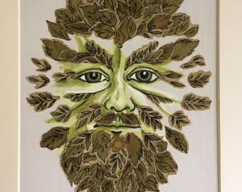 The Green Man- a textile picture