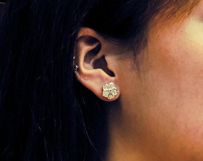 Sakura Earrings | Cherry Blossom Stud | Silver Flower Studs | Floral Stud Earring | Flower Post Earring | Plumeria Earring | Dainty Earrings
