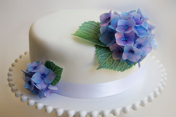 Floral Wedding Cake Printed Wafer Flwoers