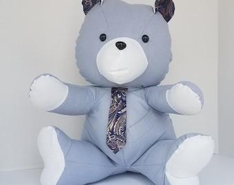 Memorial Bear - Keepsake Teddy Bear - Sympathy Gift - Memorial Gift - Clothing Teddy Bear - Tshirt Keepsake - Clothing Keepsake Bear