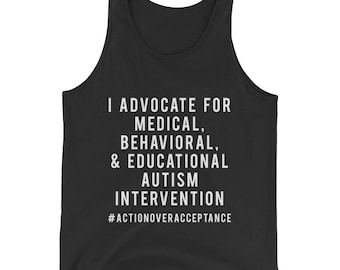 Advocate for Autism Intervention Men's Tank Top