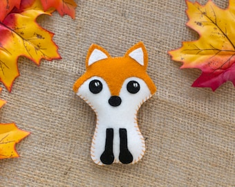 Woodland creatures fox baby's rattle fox rattle made from 100% wool felt.
