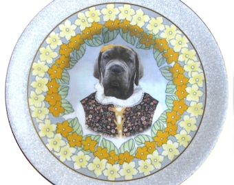 Matilda the Mastiff Plate 8.75""