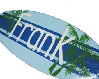 Personalized Teen Boys Room Decor, 18 inch Surfboard, Personalized Teens,Teen Boy Wall Art, Boy Teenage Bedroom, Teen Boy Gift