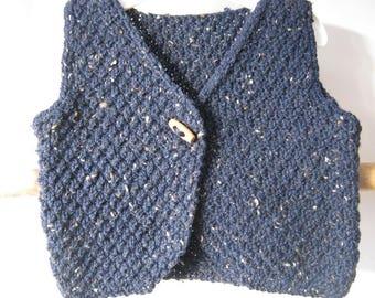 Heather blue Shepherd vest