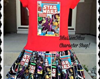 girls star wars dress 4/5 6/6X 7/8 10/12 14/16 ready to ship