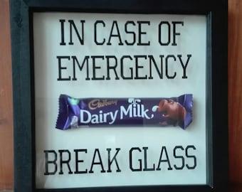 Wooden Deep Box Frame In Case Of Emergency Break Glass