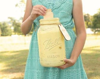 Rustic Chic Advice For The Bride and Groom Mason Jar Advice Jar Mason Jar Wedding Advice For The Couple Advice For The Newlywed