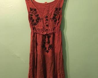Alex Dress- bohemian brown dress